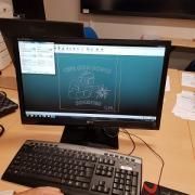 Travail du modèle sur logiciel IGEMS avant découpe.